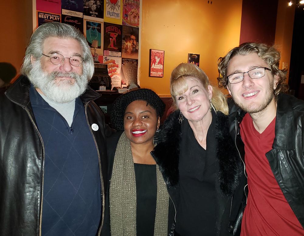 "Steve Jakiel, Shanntina Moore from ""Mockingbird,"" Lisa Ludwig from ""Jimmy Dean, "" and Simon Mikolajczyk"