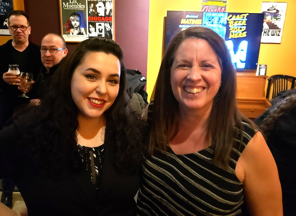 Buffalo Playwrights Bella Poynton and Donna Hoke at Alleyway Theatre, Buffalo Quickies 2019
