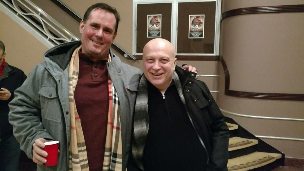"""Terry Martin and Chevon Davis at """"The Fabulous Brightness of Leonard Pelky"""" at BUA -- Buffalo theater"""