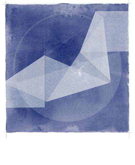 Folded Blue Figment
