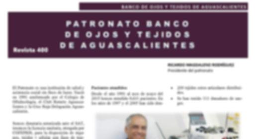 Ricardo Magdaleno #Revista400 #DesarrolloSustentable  #Aguascalientes  #Rotary #DonacióndeCorneas