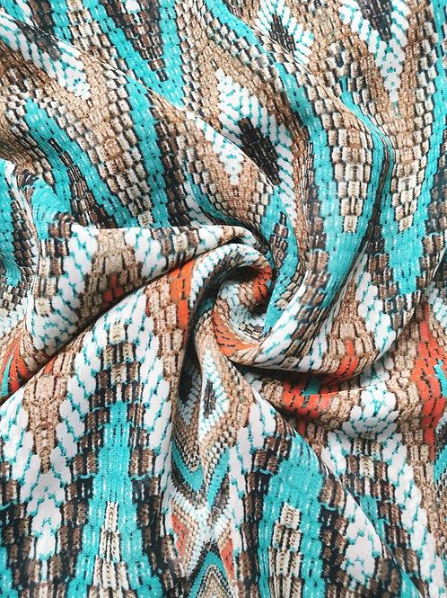 MaScarf -  Aqua Aztec