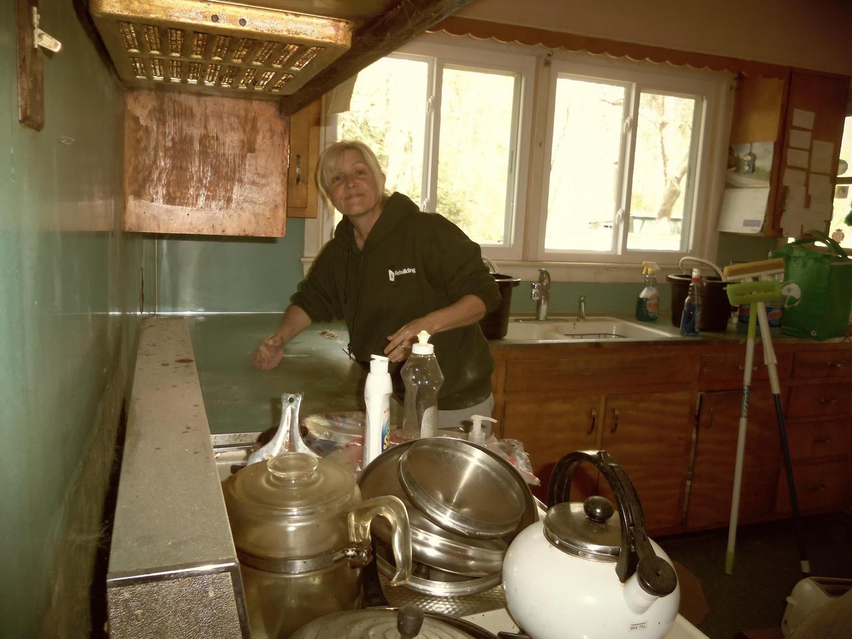 14.Volunteer Diana Reid Inside Cleaning