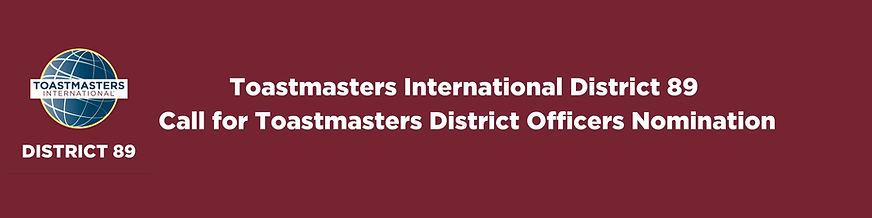 Toastmasters International District 89 C