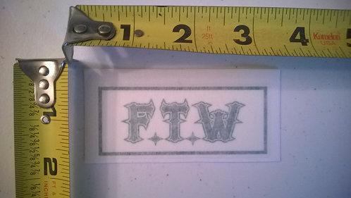 FTW Sticker