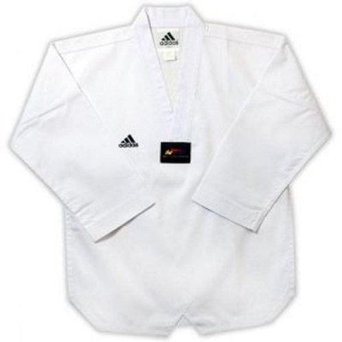 Adidas Taekwondo White V Neck with white belt