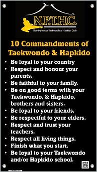 10 Commandments of Taekwondo & Hapkido
