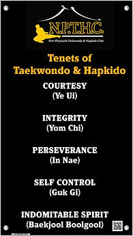 Tenents of Taekwondo & Hapkido