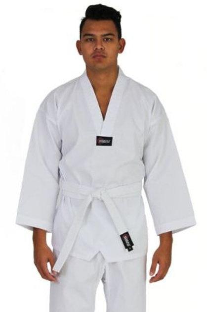 Adults SMAI White v-neck Dobok with White-belt
