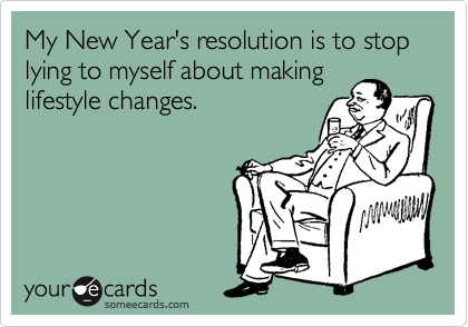 Your New Year's Resolutions…            How to fail at them well.