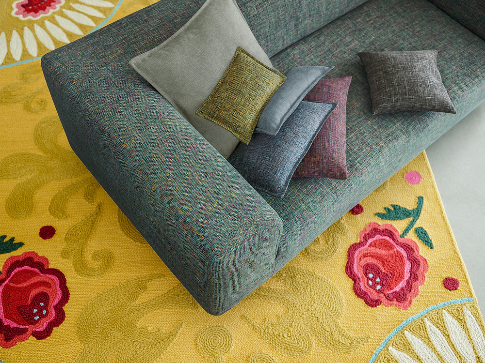 Custom-made Sofa, cushions, upholstery fabric