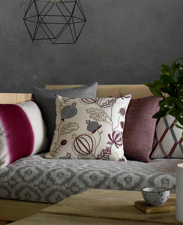 cushions, curtain fabric