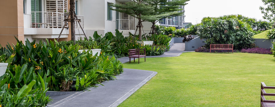 commercial irrigation system and landscaping
