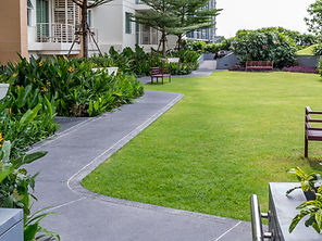 Modern rooftop garden with pathwayin_mmd