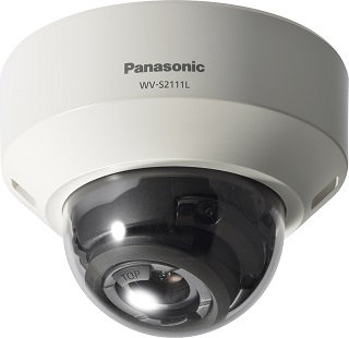 WV-S2111L  Panasonic IP Dome Super Dynamic HD,H.265 IR-LED,Manual Z/F,SD,POE