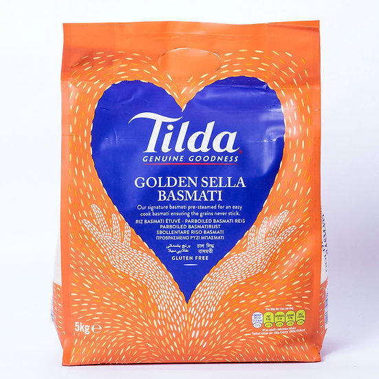 Tilda Golden Sella Basmati Rice 5kg