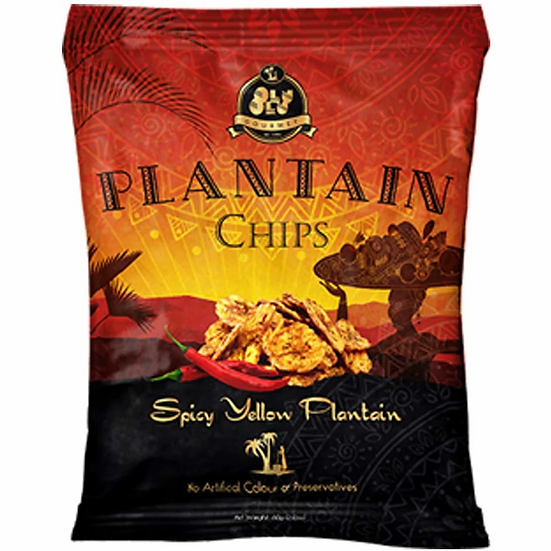 Spicy yellow plantain chips