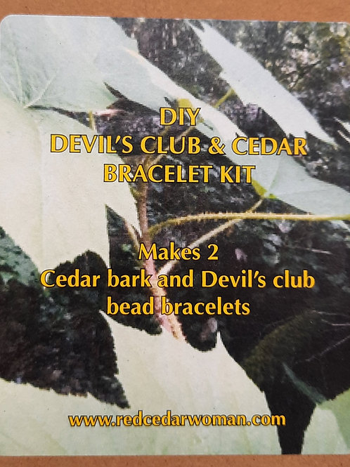 DIY Devil's Club & Cedar Bracelet Kit
