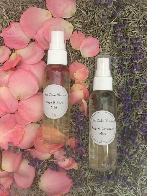 Sage Mists / Sage& Wild Rose or Sage & Lavender