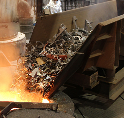 Scrap processing & Steelmaking in Induction Furnace