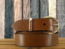 Brass horseshoe buckle belt