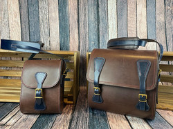 Matching over shoulder bag and boules bag