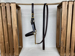 Padded Controller Headcollar with Chain leadrein
