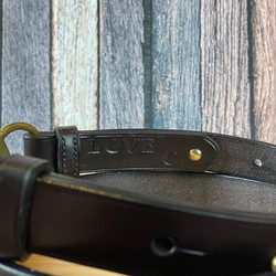 Hidden message inside bit buckle belt