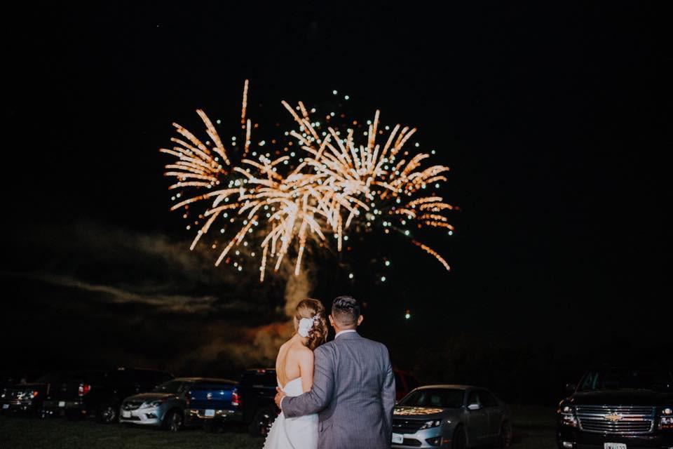 Wedding Fireworks, Blue Diamond Events