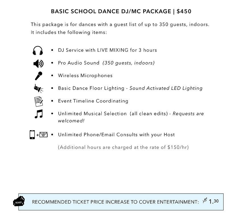 School Packages _ Basic DJ_MC Package _