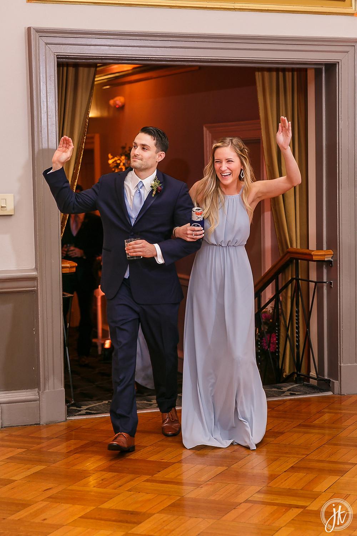 Bride and Groom, Wedding DJ, The Tiger Hotel, Blue Diamond Events, Wedding DJ, The Shoe Game, J. Kelley Photography, Columbia, MO, Weddings, Grand Entrance