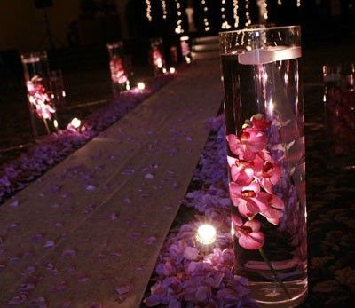 ceremony, aisle, uplighting, lighting design, wedding