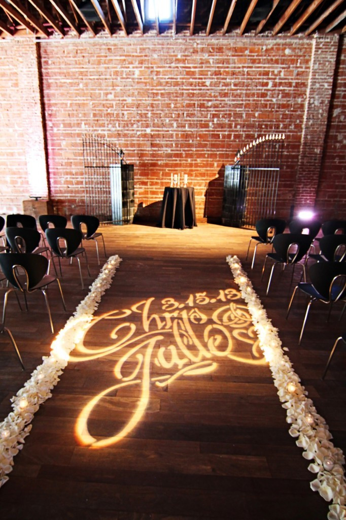 Ceremony, Monogram Lighting, Personalized Wedding Decor, OneWed