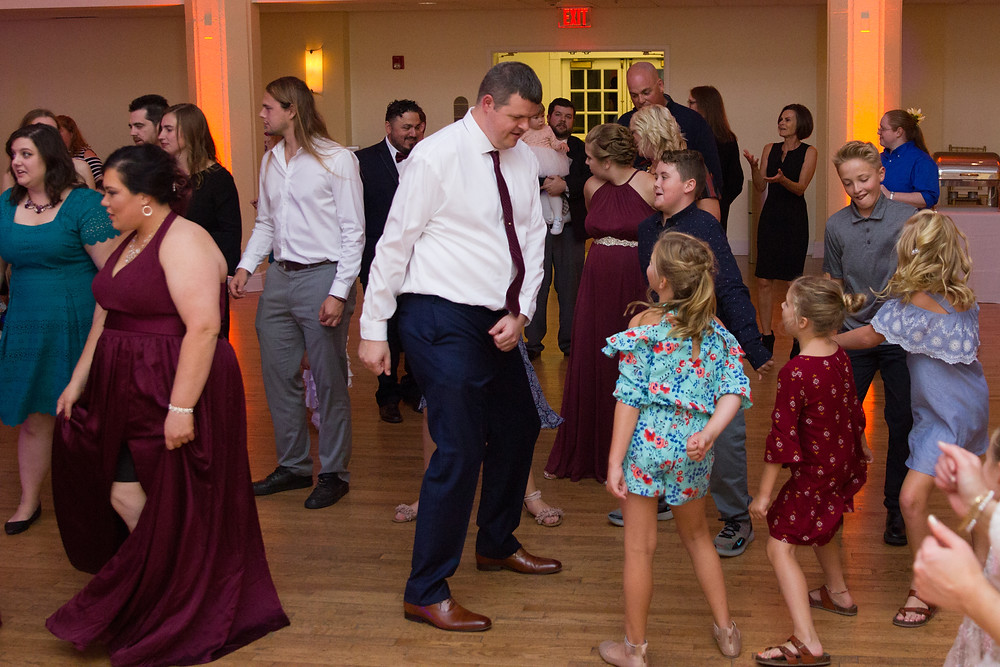 dance party, wedding, reception, event lighting, wedding day, columbia, mo, blue diamond events photography, fall colors, Kimball Ballroom, Stephens College, fall decor, blue diamond events coordinating, day of coordinating