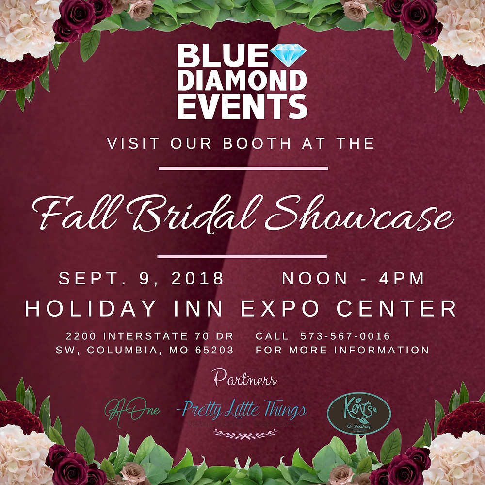 wedding show, blue diamond events, columbia mo, expo center, missouri, dj, mc, lighting, wedding, atmosphere, photography, photographer, photo booth, planning, event planning, coordinator, decor, wedding show booth, fall bridal showcase, brides