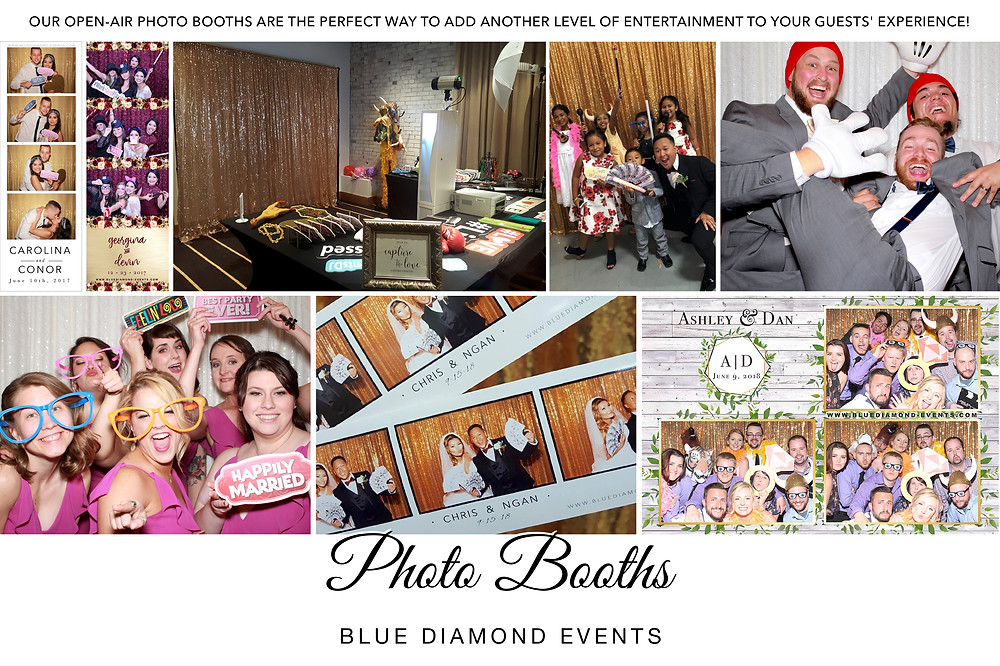Blue Diamond Events, Photo Booths, Weddings, Wedding, Photo Booth, Entertainment, Columbia, MO, Open Air Booth, Events, Custom Templates