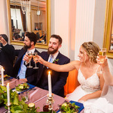 A toast to the Newlyweds! | Blue Diamond Events Weddings | Columbia, MO