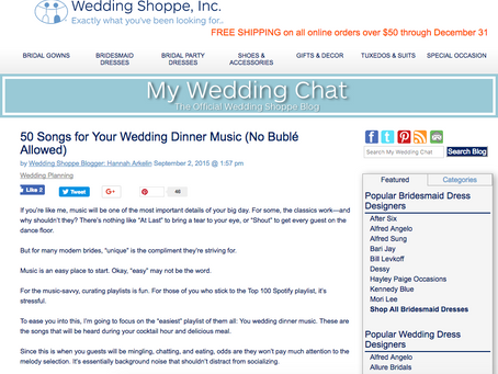 Internet Find of the Week | 50 Songs for Your Wedding Dinner Music (No Bublé Allowed)