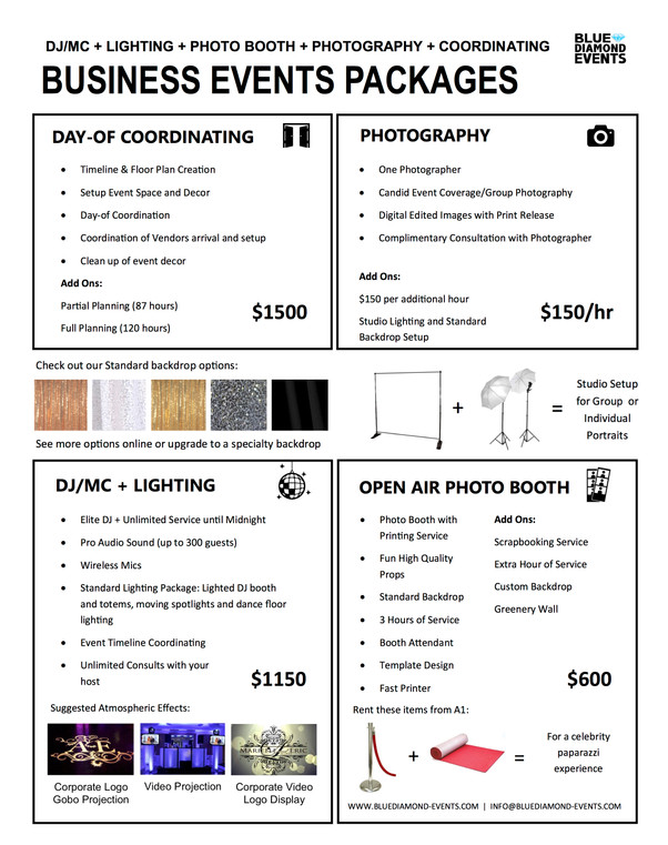 Business Events Packages | Blue Diamond Events | Columbia, MO