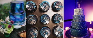 Starry Night, Themed, Sweets, Cake, Wedding, Cup Cakes, Constellations, Columbia, MO, Weddings, Star, Stars, Blue, Purple