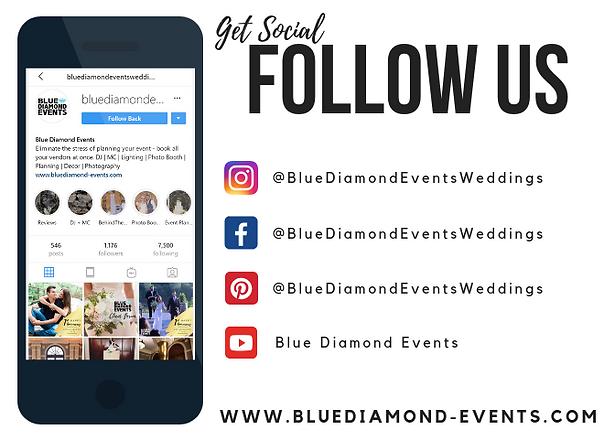 Get Social FOLLOW US _ Blue Diamond Even