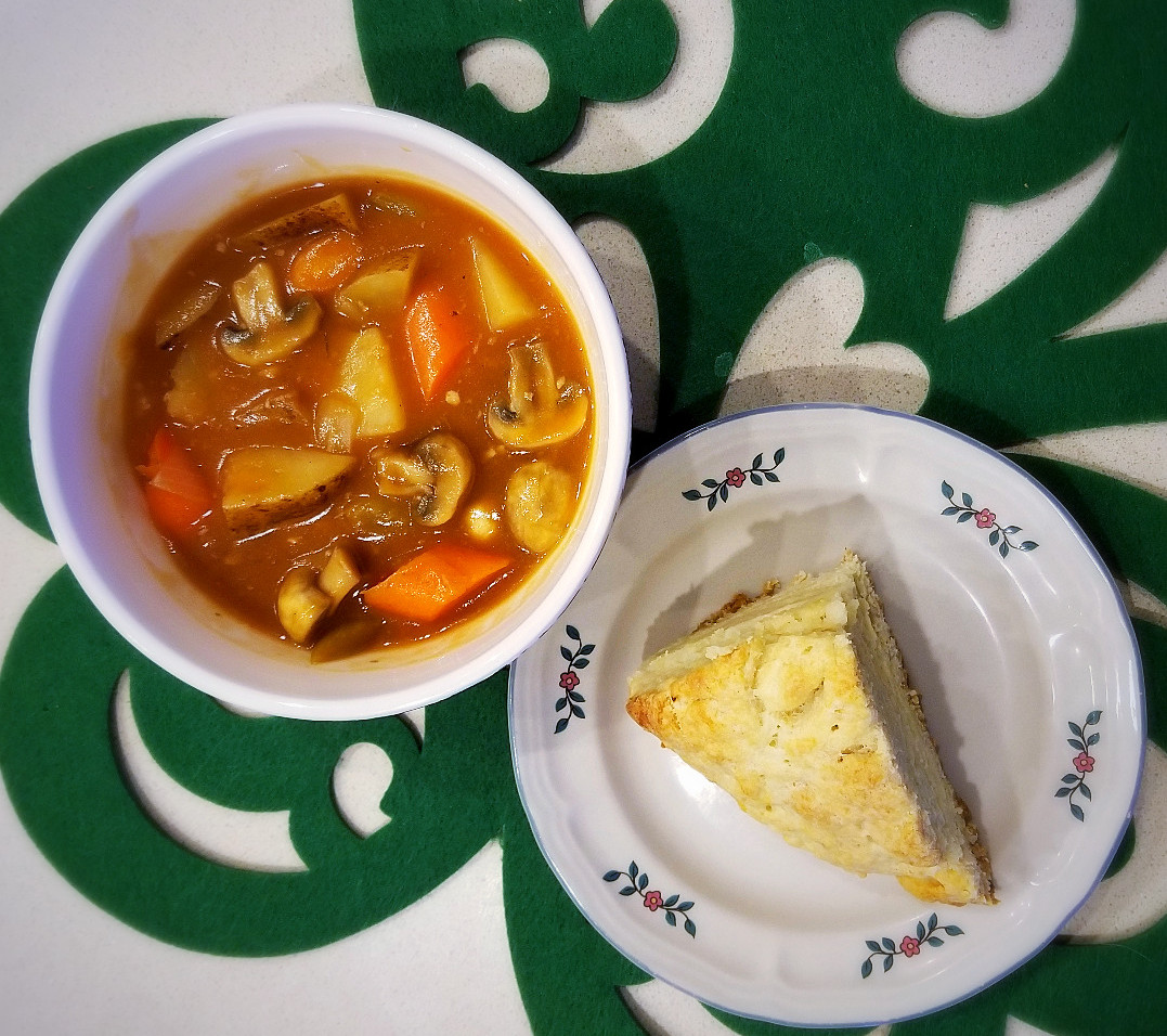 Vegetarian Irish Stew with Soda Bread