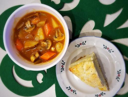 Vegetarian Irish Stew with Soda Bread