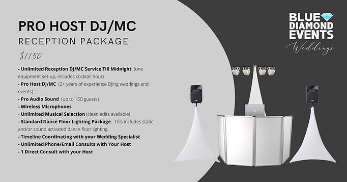 Pro Host DJ/MC Reception Package Image