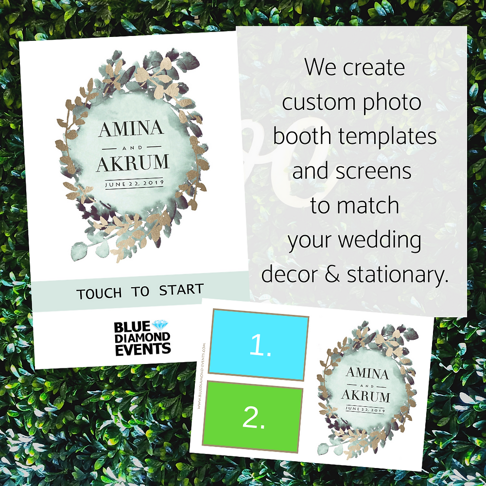Modern, Design, Photo Booth, Template, 4x6, card, photo, Columbia, MO, Blue Diamond Events, Weddings, Wedding