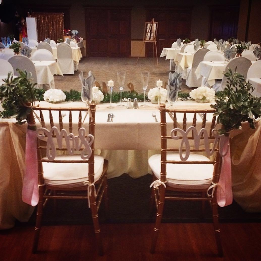 Rose Gold Glam Wedding