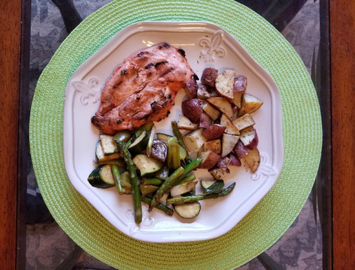 Catalina BBQ Chicken with Oven Roasted Vegetables