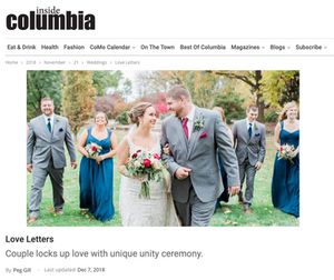 Inside Columbia Magazine, Hanke, Amy, Andrew, Wedding,  Blue Diamond Events, DJ, Stephens College, Firestone Baars Chapel, Kimball Ballroom, Weddings, Columbia, MO, DJ, MC