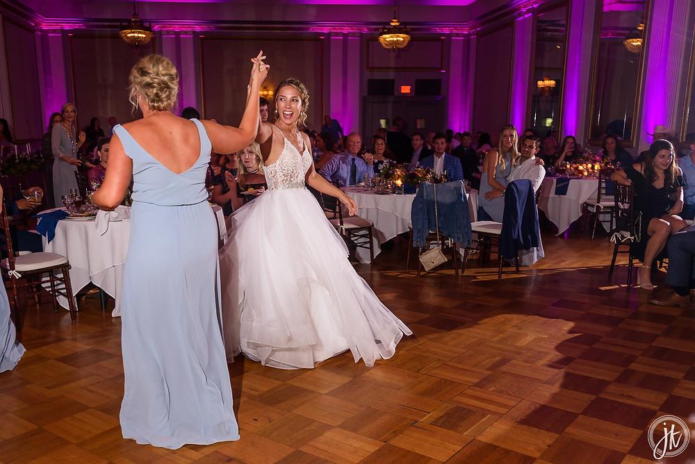 Bride and Groom, Wedding DJ, The Tiger Hotel, Blue Diamond Events, Wedding DJ, The Shoe Game, J. Kelley Photography, Columbia, MO, Weddings, Uplighting, Dance Party, Wedding Entertainment