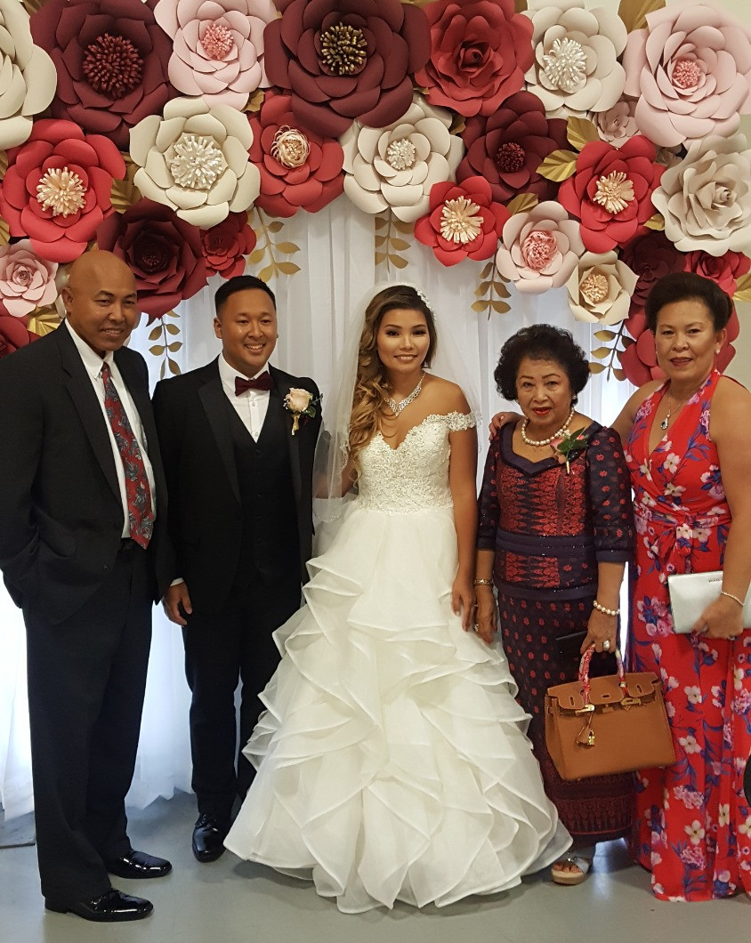 Weddings, Columbia, MO, Blue Diamond Events, Cambodian, Vietnamese, Knights of Columbus Hall, Backdrops, Wedding Photography, Wedding Moments, Mr. and Mrs., Bride, Groom